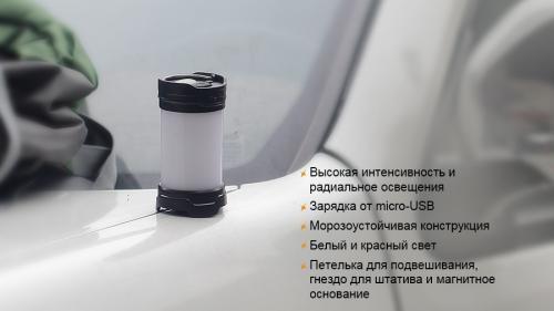 Фонарь Fenix CL25R Кемпинговый_2