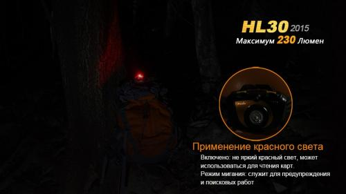 Фонарь Fenix HL30XP-G2 Налобный_3