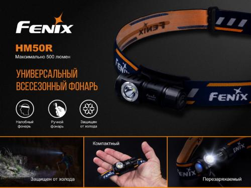 Фонарь Fenix HM50R Налобный_3