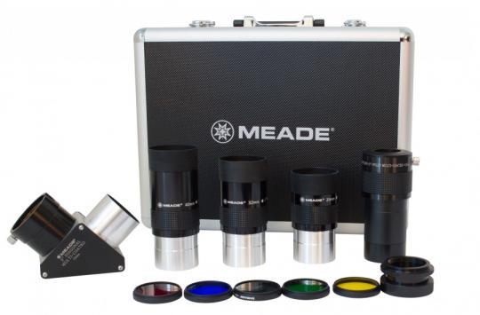 Набор MEADE (3 окуляра 4000, Барлоу, диагональное зеркало  2'', адаптер 1,25/2, 5 фильтров) в кейсе