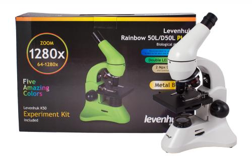 Микроскоп Levenhuk Rainbow 50L PLUS Лунный камень_9
