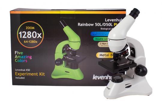 Микроскоп Levenhuk Rainbow 50L PLUS Лунный камень